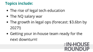 In-house roundup number 25 Topics